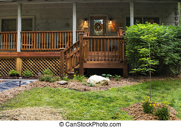 Front Porch on Cabin