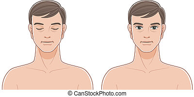 Front portraits of middle aged men - Front portraits of...