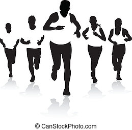 front runners - a group of runners