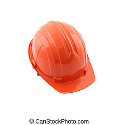 Front safety hat on white background