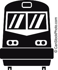 Front train icon, simple style