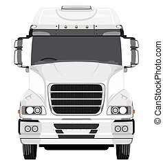 Front of the truck on a white background