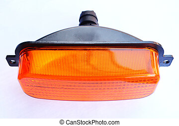 front turn signal lamp with a yellow plastic glass
