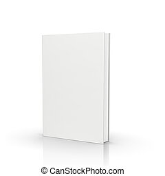 front view book - front view of blank book on white ...