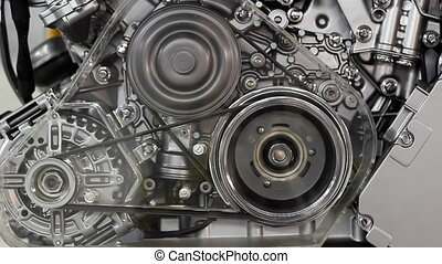 front view car engine