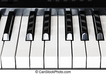 front view keys of digital piano