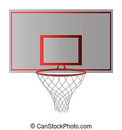Front view of a basketball net