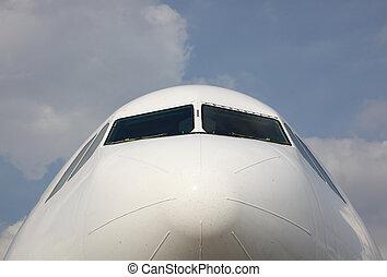 Front View Of A Plane Cockpit