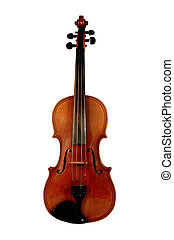 Front view of a Saxony Violin circa late 1800 not the double purfling