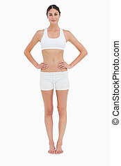 Front view of a slim woman