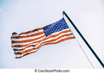 American flag on flagpole
