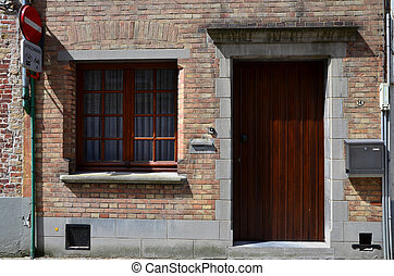 Front view of Apartment Building in Bruges