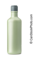 Front view of blank plastic cosmetic bottle