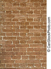 Front view of brick wall