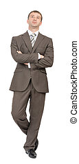 Front view of businessman