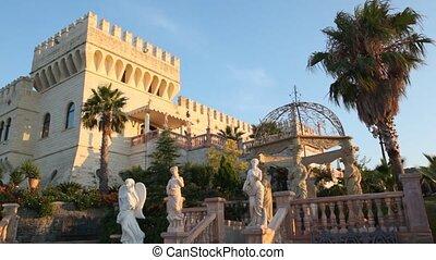 Front view of Castello Flotta near the Ionian coast -...