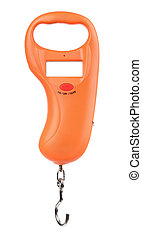 Front view of digital hanging hook scale