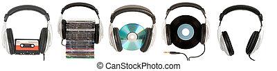 front view of dj headphones