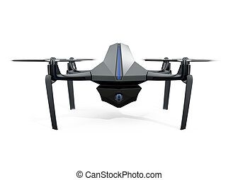 Front view of drone