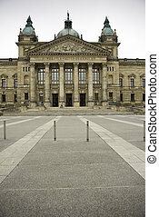 Front view of Federal Administrative Court, Germany