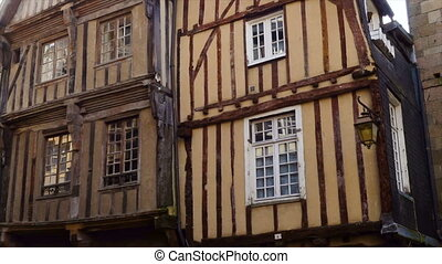 front view of french colombage houses