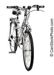 bicycle isolated - front view of mountain bicycle isolated...