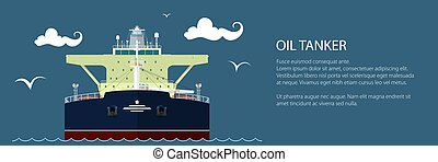 Front View of Oil Tanker Banner - Front View of the Vessel...