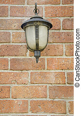 Front view of Old Lamp on Wall