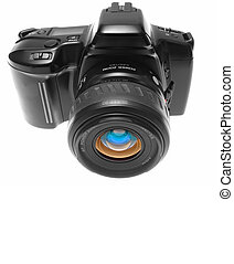 Front view of SLR Camera