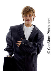 front view of smiling young businessman