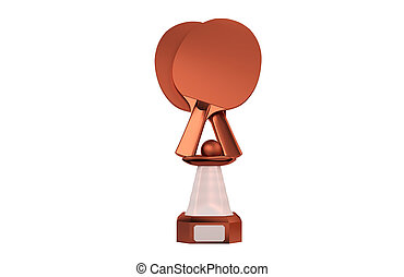 Front view of Table Tennis Bronze Trophy