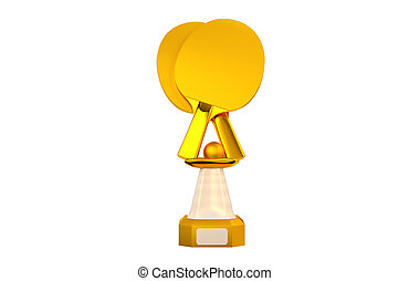 Front view of Table Tennis Gold Trophy