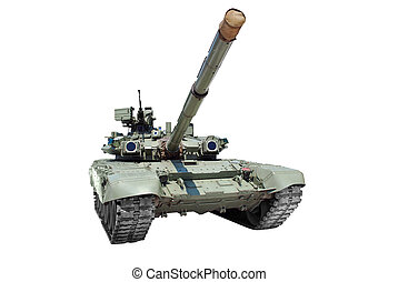 tank isolated - front view of tank isolated