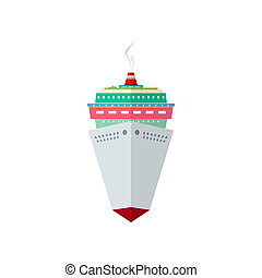 Front View of the Cruise Ship