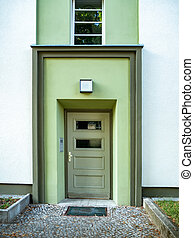 Front view of the entrance door