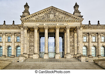 front view of the Reichstag building, Berlin