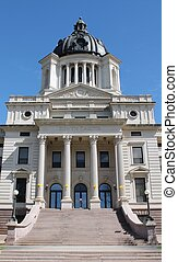 South Dakota State Capital - Front view of the South Dakota...