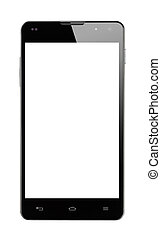 Front view Smartphone blank screen isolated