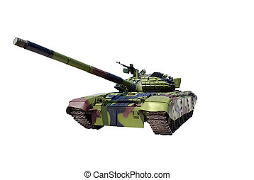 tank - front view tank isolated