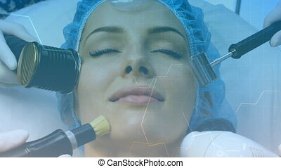 Front view woman getting facial treatments - Animation of ...