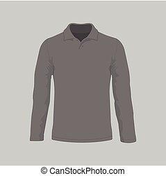Men's black long sleeve t-shirt