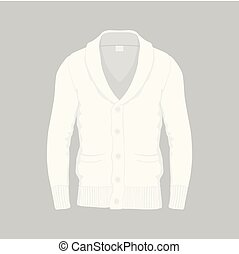 Men's white cardigan