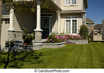 Front Yard - Front Garden Of A New Home