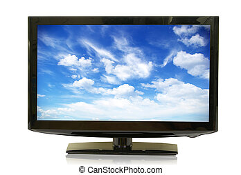 lcd monitor - frontal view of widescreen lcd monitor...