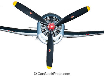 Frontal view of WWII Fighter - A frontal view of a WWII...
