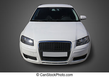 fronte, automobile, bianco, vista