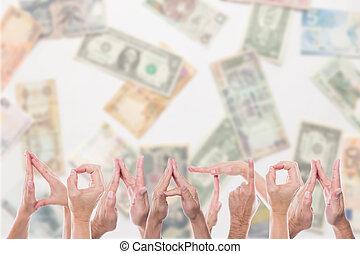fronte, differente, valute, donazione