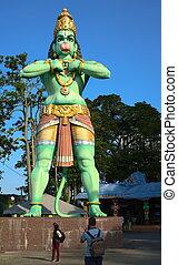 fronte, hanuman, dio indù
