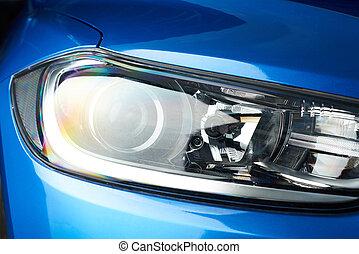 fronte, luce automobile