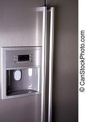 fronte, moderno, frigorifero